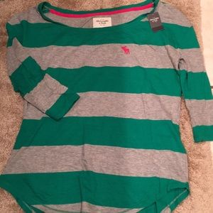 NWT Abercrombie & Fitch striped T-shirt moose M